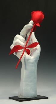 White Hand with Red RoseHand with Pot