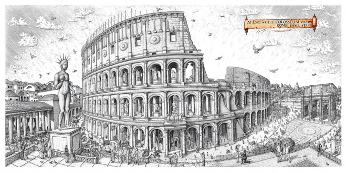 so long as the colosseum stands The washington post, in a lengthy article entitled planning a  its floor 8 to 12  feet below the level of the stands, so that river water could be.