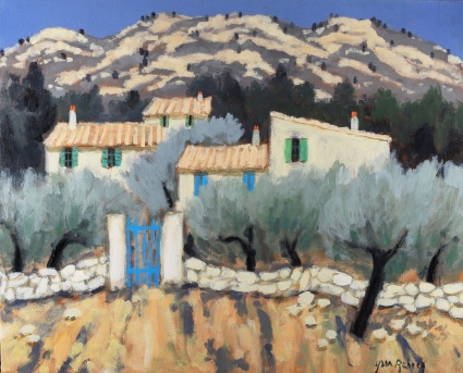 Houses in Provence in Middle of Olive Trees