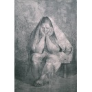 Mujera Sentada Con Rebozo (Seated Woman With A Shawl)
