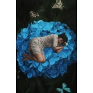 The Maiden Sleeping on the Blue Hydrangea