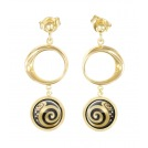Hommage à Gustav Klimt - 18kt Aurora Earrings