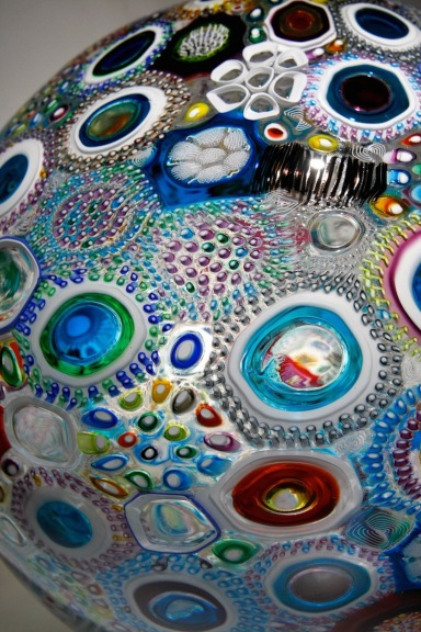 Mixed Murrine Sphere (Detail)