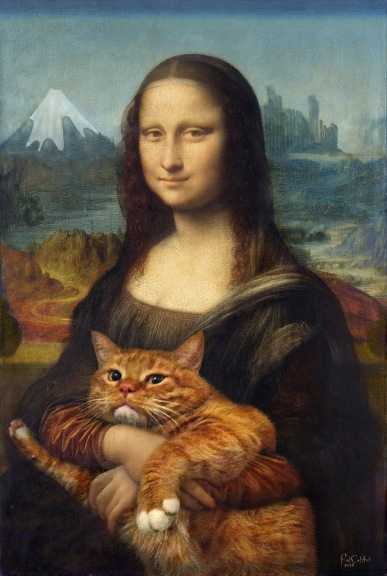 Mona Lisa with her Cat at Sazai Hall Ready meme