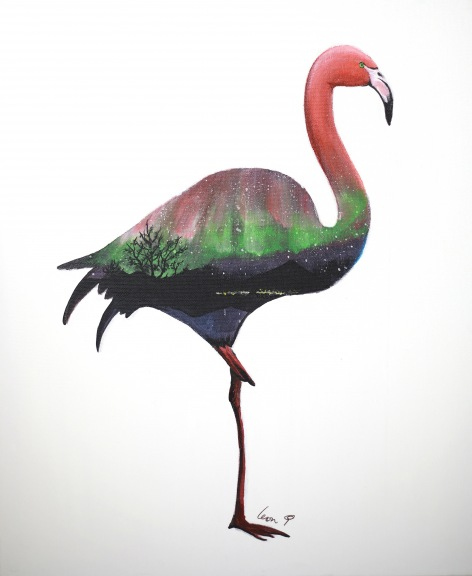 Series A - Aurora Flamingo