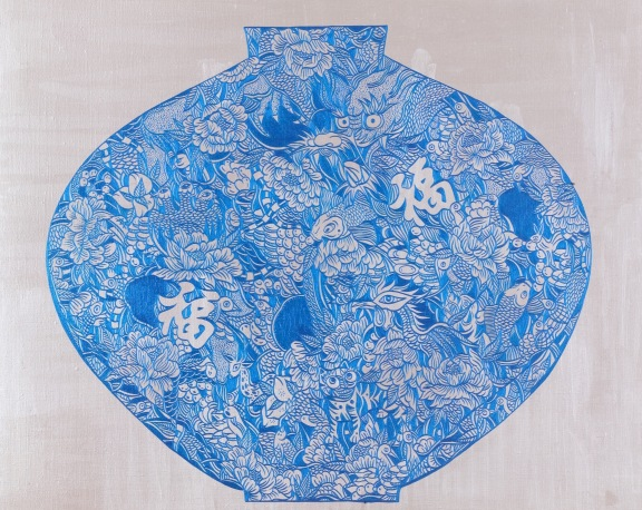 Wealth and Honor (Blue Chinaware)